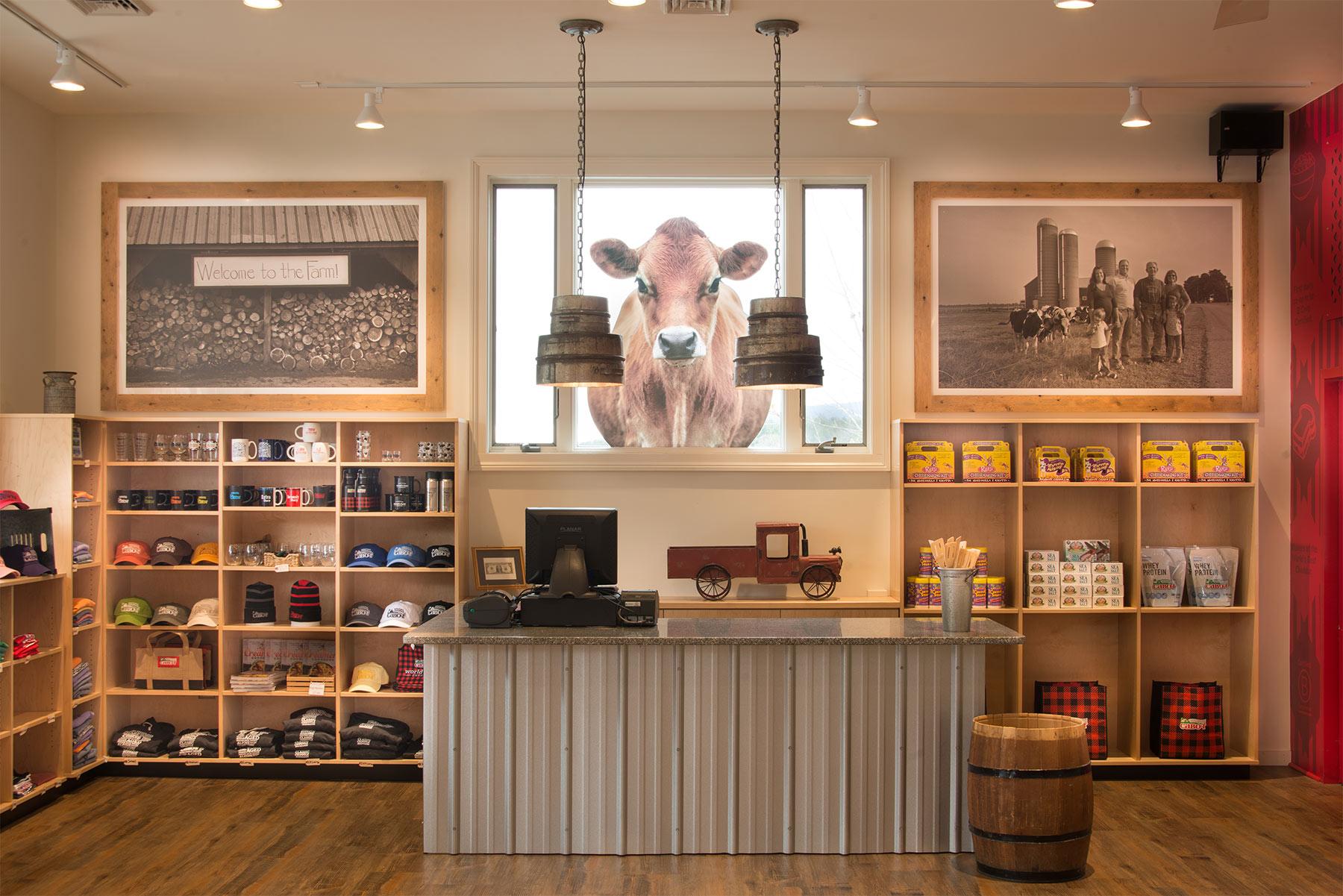 Cabot retail interior design vermont